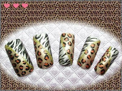 而这次由简单的画法感受不同创意的动物花纹,设计出最时髦的指甲彩绘